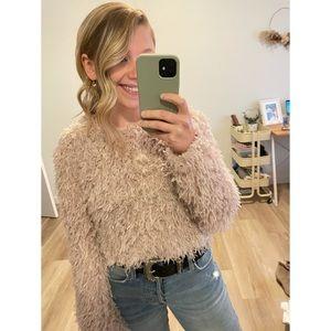 Zara Feather Effect Crop Sweater